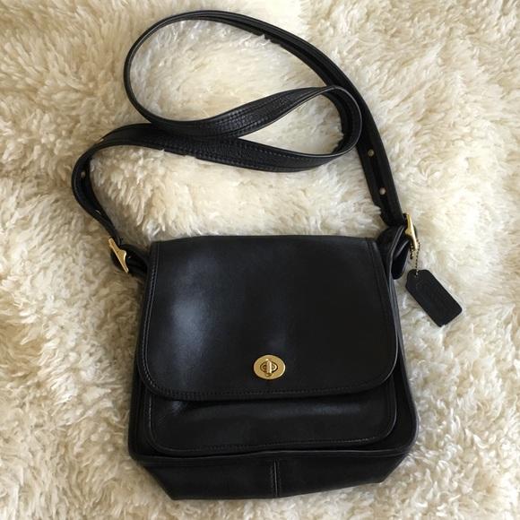Coach Handbags - Vintage Coach Rambler Legacy Crossbody Black Bag 6746102cda63d